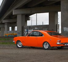 Orange Holden HG Monaro by John Jovic