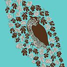 Owl in the Oak by Danielle Kerese