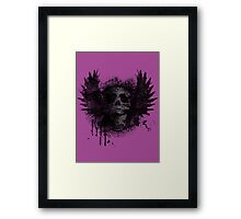Screaming for grunge - distorted Framed Print
