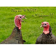 They eat WHAT at Christmas?? Photographic Print
