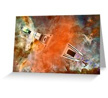 Cruiser/fighter passing through a time warp - all products Greeting Card