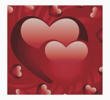 Glossy hearts background 2 Kids Clothes