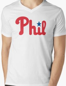 Phillies for Phil Mens V-Neck T-Shirt