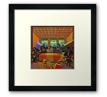 """Collective Farm Lyrics 4""  Framed Print"