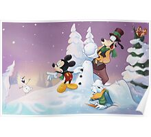 Mickey's Frozen Christmas Poster