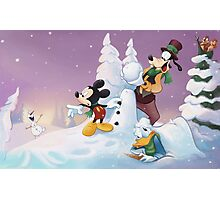 Mickey's Frozen Christmas Photographic Print