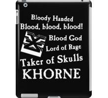 Khorne, the Blood God iPad Case/Skin