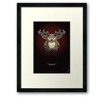Mini Series: Rudolph Framed Print