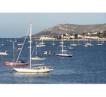 Moored yachts Photographic Print