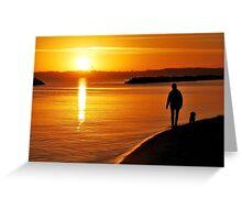 A sunrise walk in November at the Baltic Sea Greeting Card
