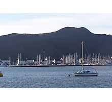 Yachts in conwy marina. Photographic Print