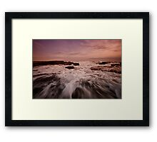 Bar Beach Rock Platform 1 Framed Print
