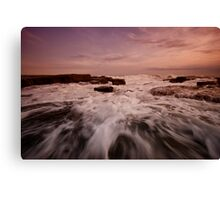Bar Beach Rock Platform 1 Canvas Print