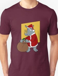 Christmas Rhinoceros  Unisex T-Shirt