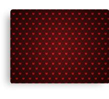 Grunge red pattern with hearts 4 Canvas Print