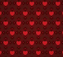 Grunge red pattern with hearts 4 Sticker