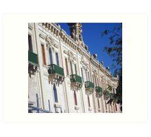 Green balconies Art Print