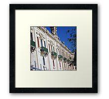 Green balconies Framed Print