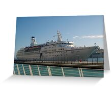 The cruise liner Greeting Card