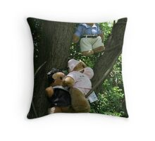 NEWS-FLASH: Local rescues care-flight crew! All bears safe!  Throw Pillow