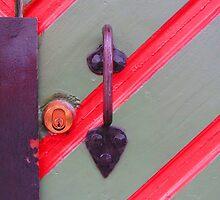 Hardware on Painted Door by M-EK