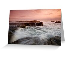 Bar Beach Rock Platform 2 Greeting Card