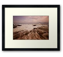 Bar Beach Rock Platform 4 Framed Print