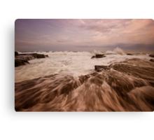 Bar Beach Rock Platform 4 Canvas Print