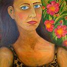 """Self Portrait (After Frida Kahlo) by Belinda """"BillyLee"""" NYE (Printmaker)"""