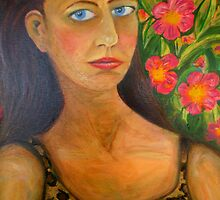 "Self Portrait (After Frida Kahlo) by Belinda ""BillyLee"" NYE (Printmaker)"