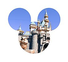Disneyland Castle Mickey Photographic Print