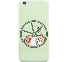 Hamster Sleeping in Exercise Wheel iPhone Case/Skin