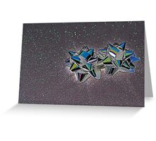 Christmas:  Solarized Silver Stars Greeting Card