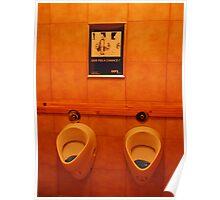 Romanian Urinal Poster