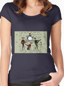 I Get By with a Little 'Elf' from My Friends Women's Fitted Scoop T-Shirt