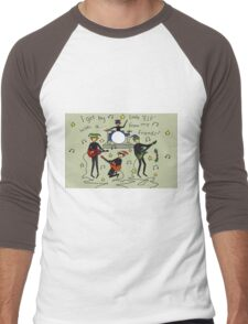 I Get By with a Little 'Elf' from My Friends Men's Baseball ¾ T-Shirt