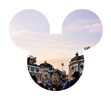 Main Street Sunset Mickey by hilarydewitt
