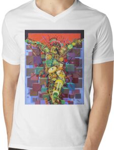 """Crucifixion""  Mens V-Neck T-Shirt"