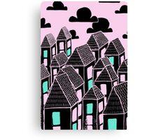 Pink city print Canvas Print