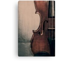 An Old Violin Canvas Print