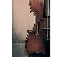 An Old Violin Photographic Print