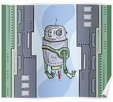 Robot Entering Poster