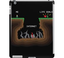 Internet VS Life goals iPad Case/Skin