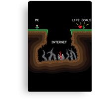 Internet VS Life goals Canvas Print