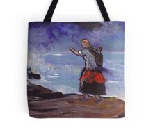 Mother and child in a gale Tote Bag