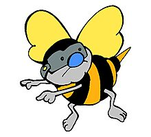 Cartoon Bee Photographic Print