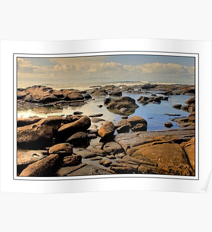 Low Tide at Kidd's Beach Poster