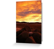 The Day Gently Ends Greeting Card