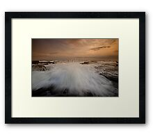 Bar Beach Rock Platform 3 Framed Print