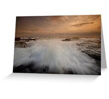 Bar Beach Rock Platform 3 Greeting Card